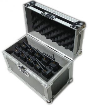 Pack 10 recepteurs deportes DMX HF + valise de chargement