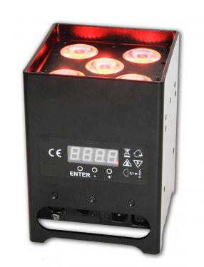 DECOLED512HF , Projecteur de décoration sur batterie 60W RGBWA+UV DMX HF