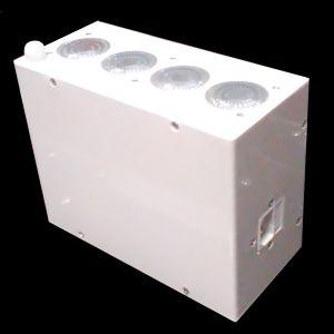 Decoled45HF version MKIII  , Projecteur de décoration sur batterie 40W RGBWA+UV DMX HF (Blanc)