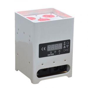 DECOLED512HF , Projecteur de décoration sur batterie 60W RGBWA+UV DMX HF (Blanc)
