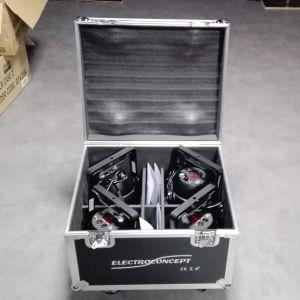 PACK 4 QPar 188 RGBWA+UV 18X10W DMX HF + FLIGHT CASE