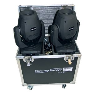 PACK DE 2 PROFILE 120 SPOT LED DMX HF + FLIGHT CASE